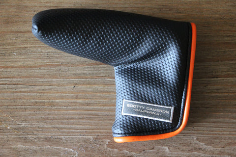 Black and Orange Piping Putter Cover