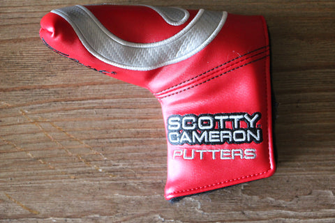 Carbon Circle T Red Industrial Putter Cover