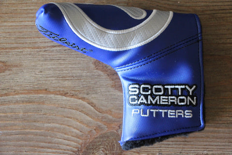 Carbon Circle T Blue Industrial Putter Cover