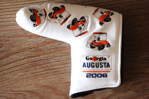 2006 White Augusta Masters Hot Rod Golf Cart Headcover