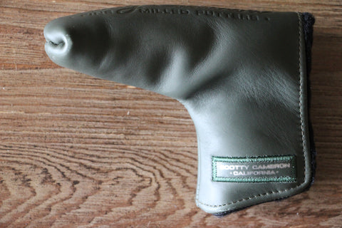 Army Green Leather Paint Surfer Gallery Headcover
