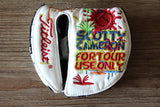 Scotty Cameron White Paint Splash Circle T Round Mid Mallet Headcover