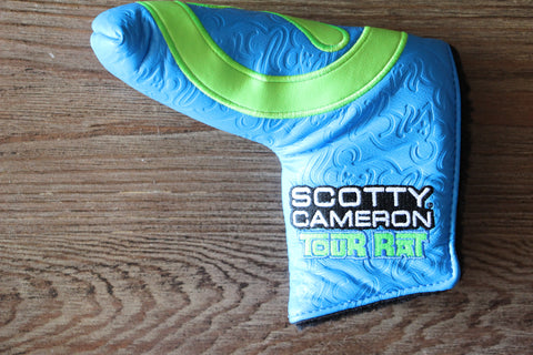 Scotty Cameron Blue and Lime Industrial Circle T Tour Rat Headcover
