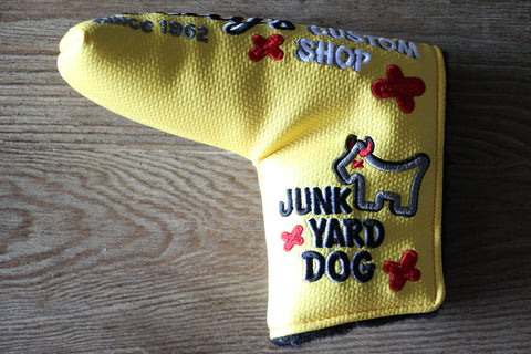 Scotty Cameron Custom Shop Yellow Industrial Junk Yard Dog Headcover