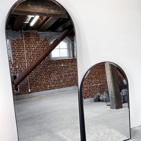Large Arched Mirror Black