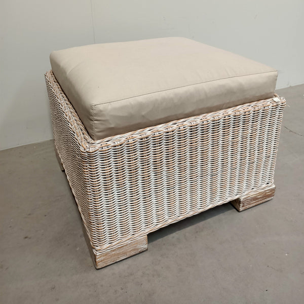 Rattan Stool with Cushion