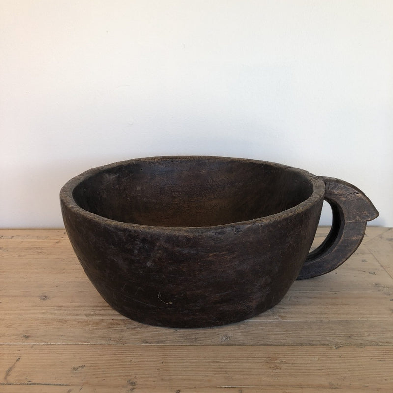 Wooden Bowl with Handle B