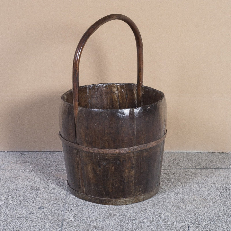 20140 Bucket with Bamboo Handle