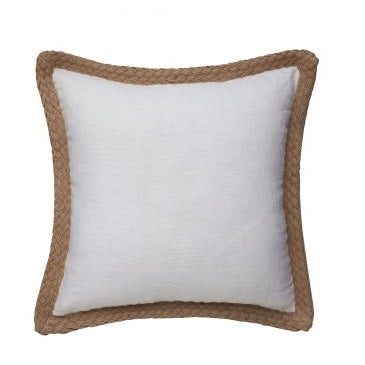 20230 Linen and Jute Border Cushion Cover