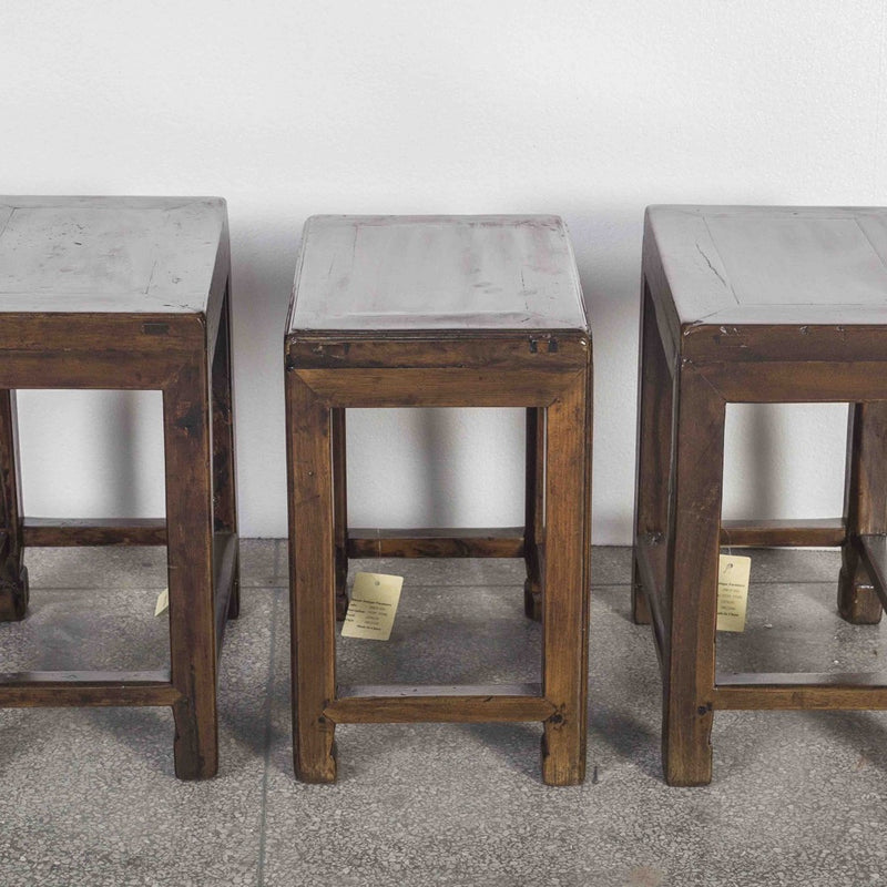 Antique Rectangular Top Stool