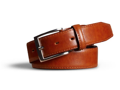 Stretch Leather Belt Camel