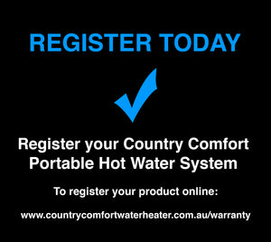 Register Your Country Comfort Water Heater Online