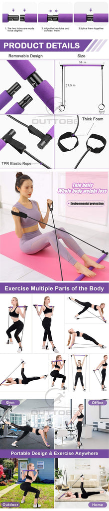 Portable Bodybuilding Yoga Pilates Stick