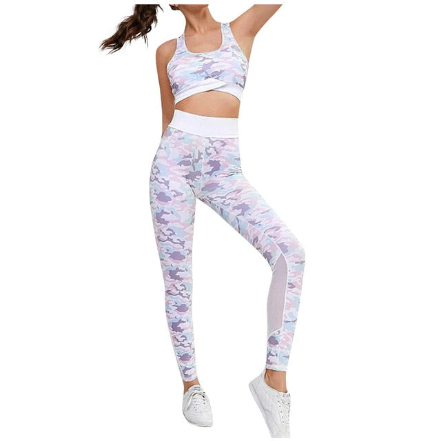 Sports Bra and Fitness Leggings Sets Running Active Wear