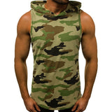 Men's Fitness Hooded Tank Tops