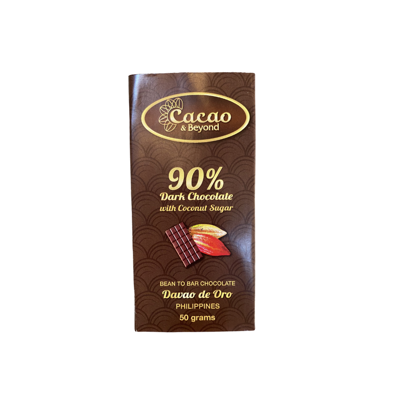 Cacao & Beyond - 90% Dark Chocolate Bar 50g