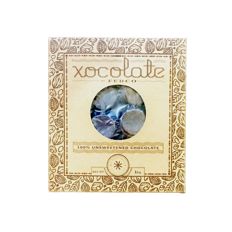 Xocolate by FEDCO - Tablea 1kg 100% Unsweetened Chocolate