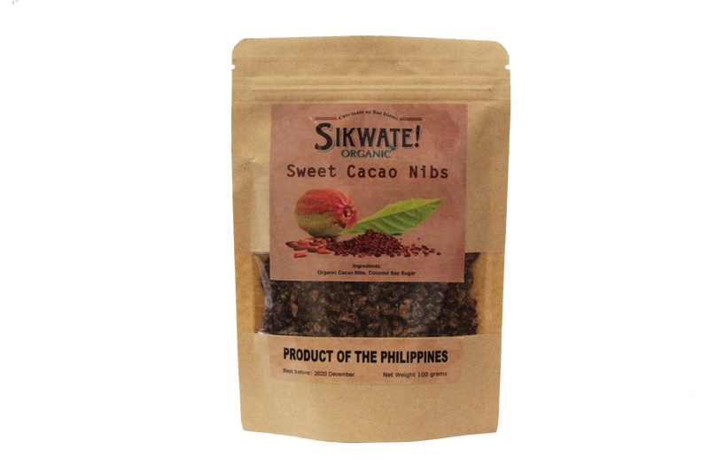 Chokolate De San Isidro - Sweet Cocoa Nibs Coated with Coconut Sugar 100g