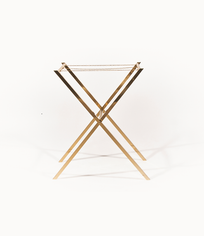 Pure brass folding butler tray stand