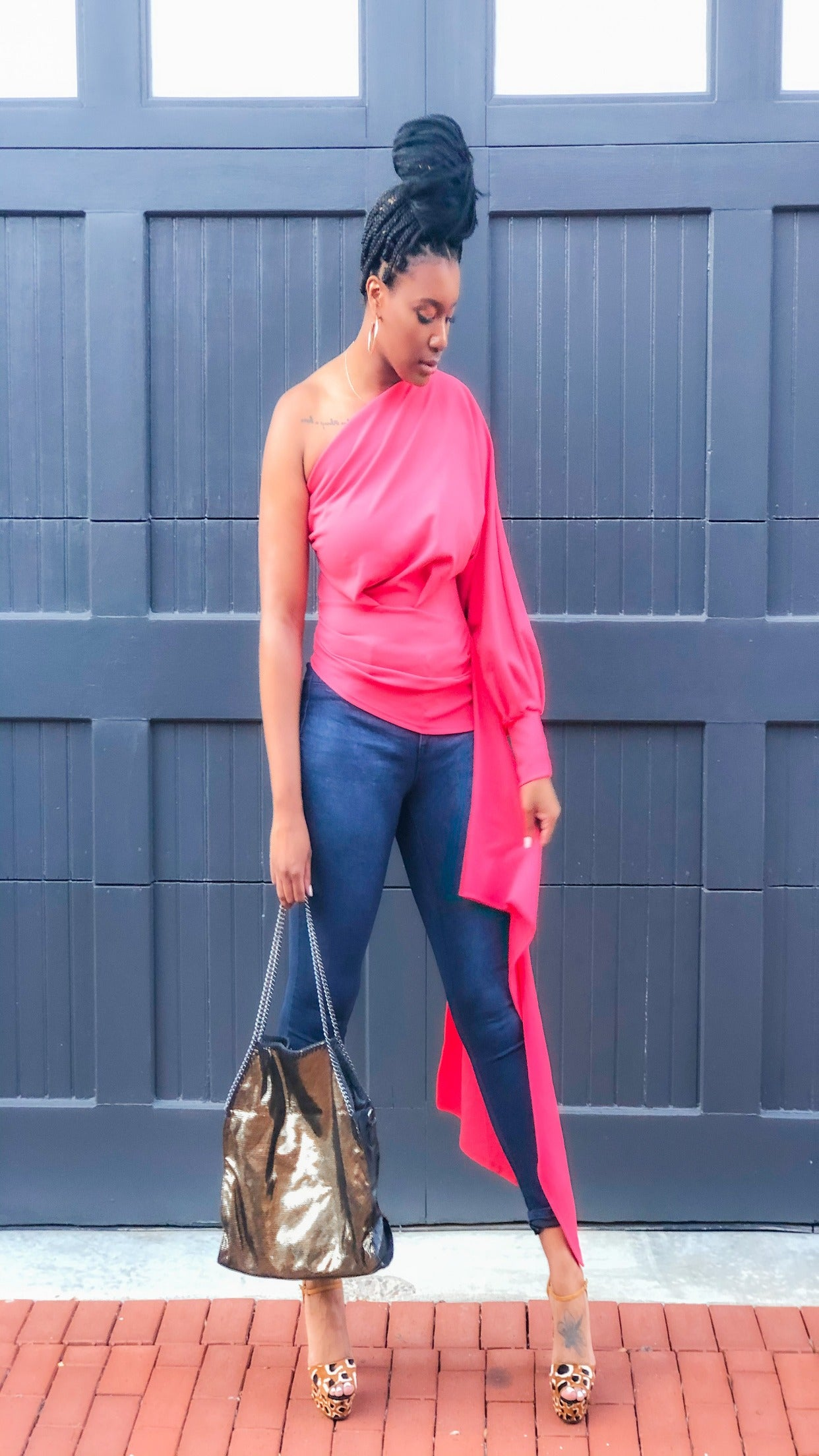 Layered One Shoulder Top
