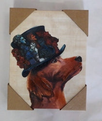 Red Setter  Hat Emporors Canvas print