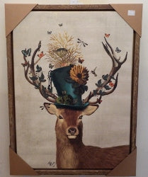 Deer stag  Hat  Canvas Print