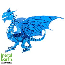 Iconx Blue Dagon Metal Earth Kit