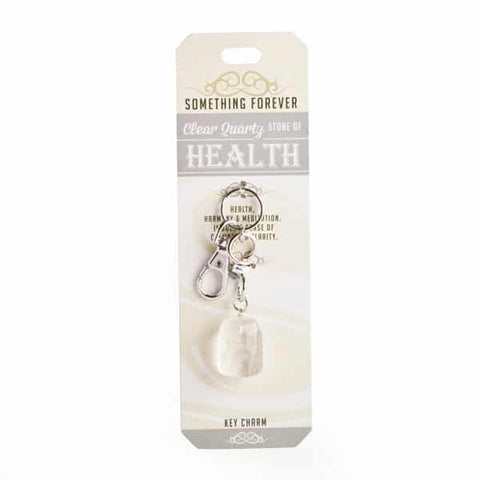 Something Forever Jewellery Quartz Clear Heart Bag Charm
