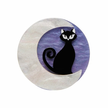 Cara the Halloween Kitty mini Brooch Erstwilder