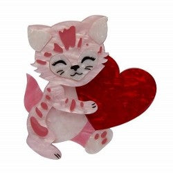 Feline the love Erstwilder Brooch
