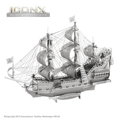 Iconx Queen Anne's Revenge Metal Earth Kit