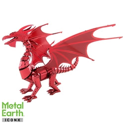 Iconx Red Dragon Metal Earth Kit