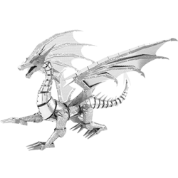 Iconx Silver Dragon Metal Earth Model Kit