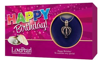 Love Pearl happy birthday Necklace Pendant Gift Set