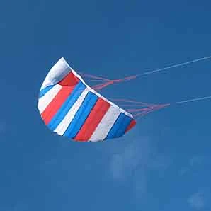 Parafoil Kite large Red Whit & Blue