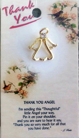 Thank You Guardian Angel Pin