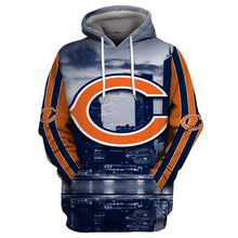 Load image into Gallery viewer, Chicago Bears 3D Printed Hooded Pocket Pullover Sweater