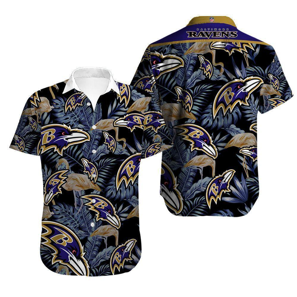 Baltimore Ravens Button Up Tee Shirt