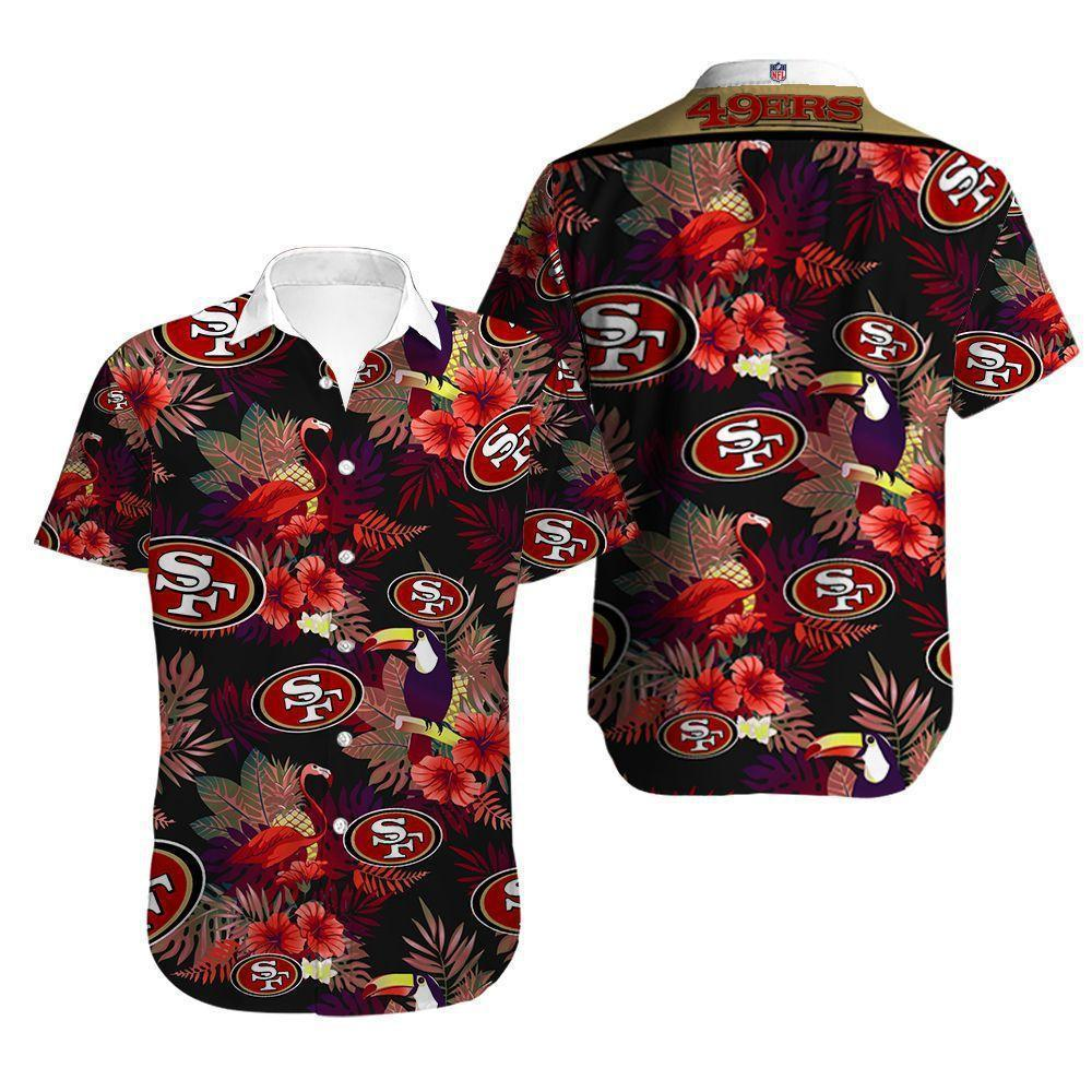 San Francisco 49ers Button Up Tee Shirt