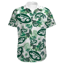 Load image into Gallery viewer, New York Jets Button Up Tee Shirt