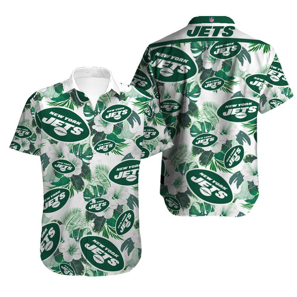 New York Jets Button Up Tee Shirt