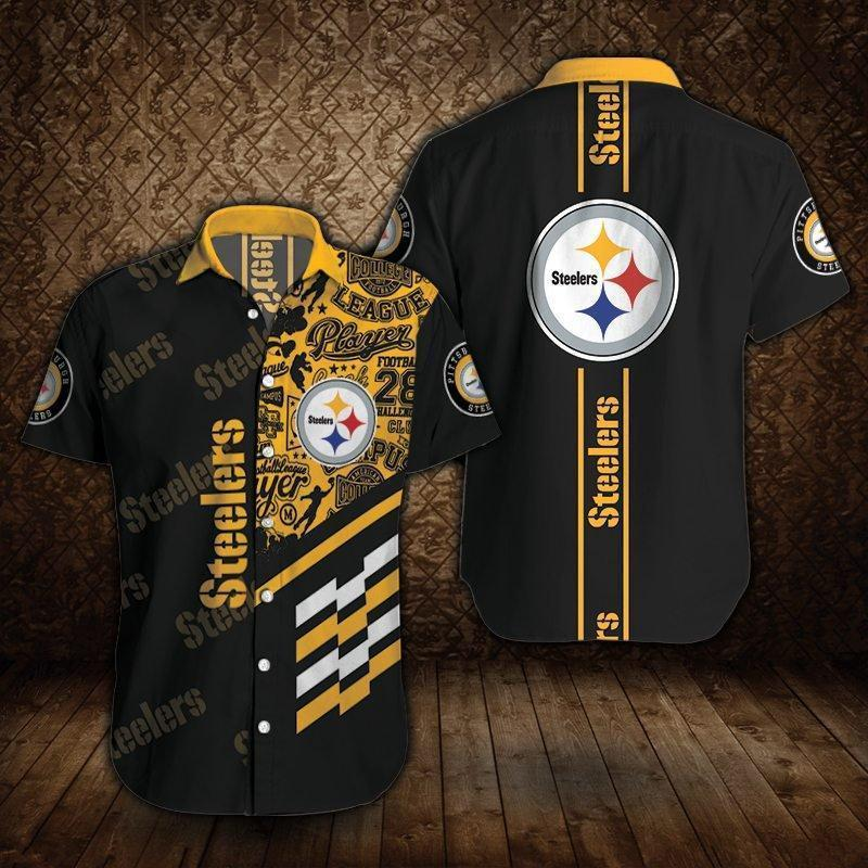 Pittsburgh Steelers Button Up Tee Shirt