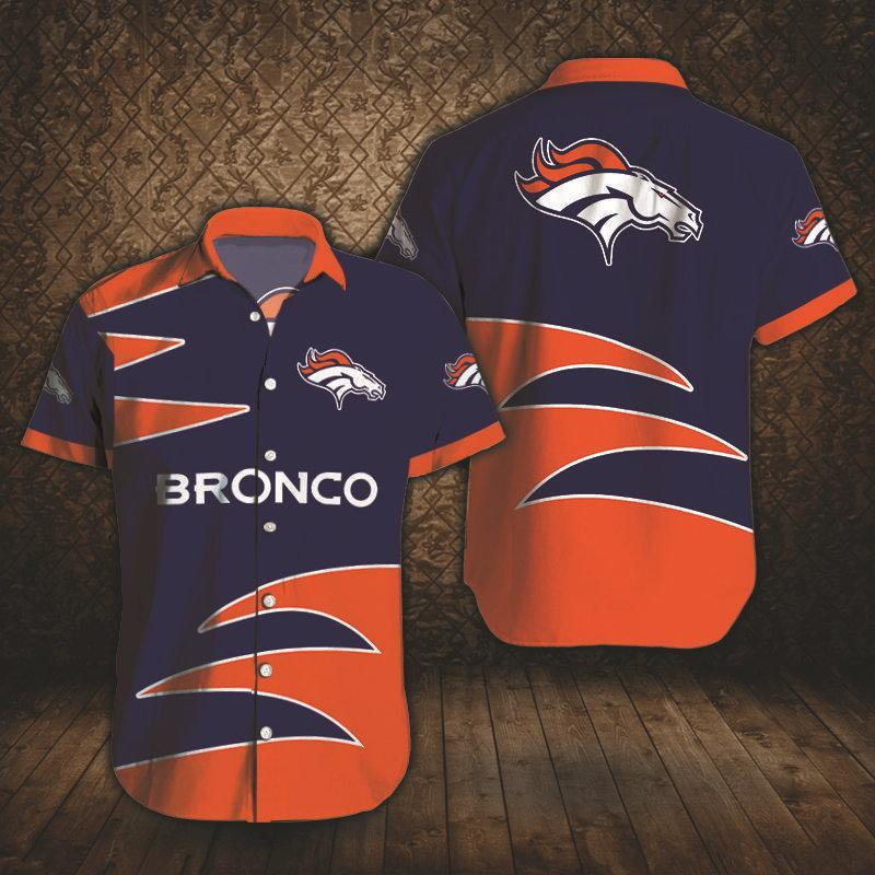 Denver Broncos Button Up Tee Shirt
