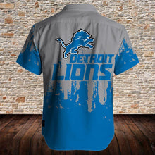 Load image into Gallery viewer, Detroit Lions Button Up Tee Shirt