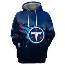 Load image into Gallery viewer, Tennessee Titans Printed Hooded Pocket Pullover Sweater