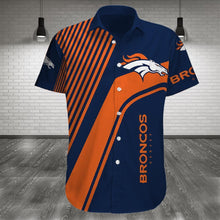 Load image into Gallery viewer, Denver Broncos Button Up Tee Shirt