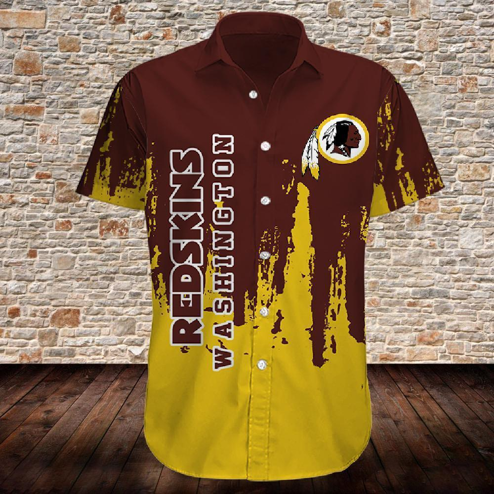Washington Redskins Button Up Tee Shirt