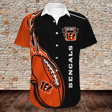 Load image into Gallery viewer, Cincinnati Bengals Button Up Tee Shirt