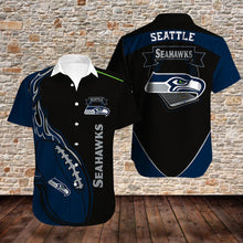 Load image into Gallery viewer, Seattle Seahawks Button Up Tee Shirt