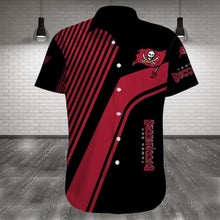 Load image into Gallery viewer, Tampa Bay Buccaneers Button Up Tee Shirt